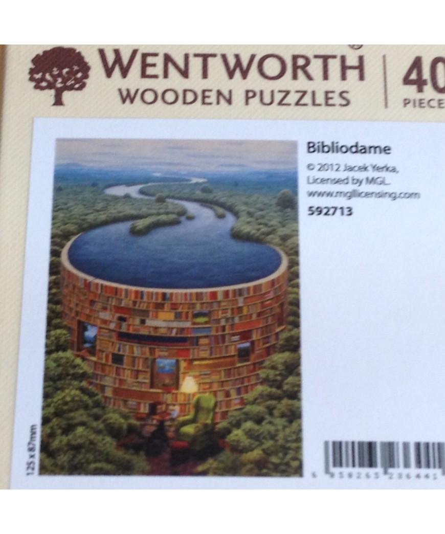 Micro Puzzle en bois - Barrage Bibliothèque