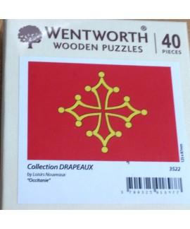 Micro Puzzle en bois - Drapeau Occitan