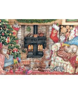 Puzzle Falcon - Christmas Cats