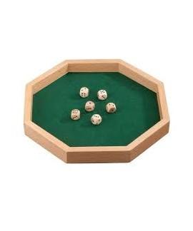 Piste de dés octogonale en bois