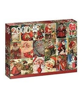 Puzzle - Vintage Santa's
